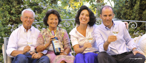 Giacomo e Gabriella Rallo, con Josè e Antonio, Donnafugata