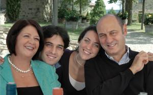Sergio e Daniela Zingarelli, con Andrea e Giulia, Rocca delle Macie