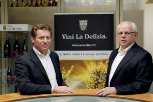 Denis Lus e Pietro Biscontin, alla guida di Cantina vini La delizia