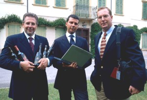 Luca, Paolo e Andrea Sartori dell'omonima cantina che opera all'interno del Collis veneto wine group