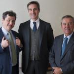 Luca Marzotto, vicepres., Ettore Nicoletto ad e Gaetano Marzotto presidente Santa Margherita