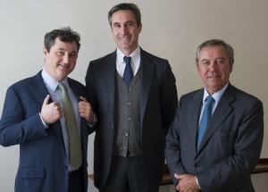 Luca Marzotto, vicepresidente, Ettore Nicoletto ad e Gaetano Marzotto presidente Santa Margherita