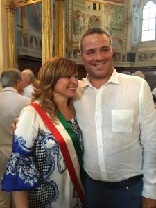 Marco Caprai con Donatella Tesei  sindaco di Montefalco