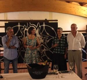 Lorenza Sebasti e Marco Pallanti ( a dx) con Chantal Gonet e Giusto Occhipinti