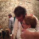 Dario Cecchini con Laura Morandi de l'Hosteria Giusti