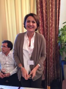 Linda Giuva, alla guida della cantina  umbra La Madeleine:«L'omaggio va a mia moglie Linda  che dedica all'azienda la maggior parte del tempo,  io mi limito a fare il promoter», parola di Massimo D'Alema.