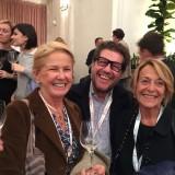 Allegria con il Saten Monterossa: Elisabetta Gnudi ( Borgo Scopeto e Caparzo)  ed Emanuele Rabotti (Monterossa)