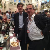 Prima fila: Hans Terzer , winemaker della Cantina altoatesina San Michele Appiano  con l'ad Guenther Neumair