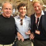 Sicilia per tre. Vito Catania con il figlio Matteo proprietari della cantina Gulfi , con Ivo Basile  (Tasca)