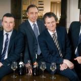 Top managment Mionetto:da sin: Marco Tomasin, Paolo Bogoni, Robert Ebner e Alessio Del Savio