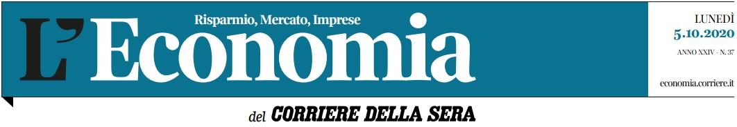 Corriere della Sera LEconomia 5 Ottobre 2020 intestazione